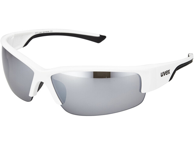 UVEX Sportstyle 215 Glasses, white/black/silver